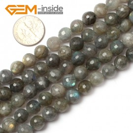 "G0618 8mm Natural Round Faceted Labradorite Beads Jewelery Making Beads 15"" 6-14mm Pick Natural Stone Beads for Jewelry Making Wholesale`"