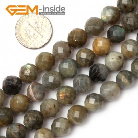 "G0620 10mm Natural Round Faceted Labradorite Beads Jewelery Making Beads 15"" 6-14mm Pick Natural Stone Beads for Jewelry Making Wholesale`"