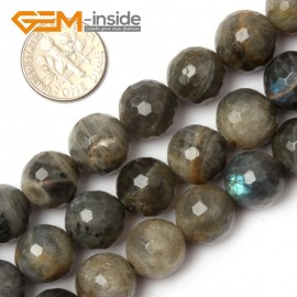 "G0621 12mm Natural Round Faceted Labradorite Beads Jewelery Making Beads 15"" 6-14mm Pick Natural Stone Beads for Jewelry Making Wholesale`"