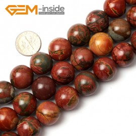 "G0830 16mm Natural Round Picasso Jasper Beads Jewelry Making Beads 15"" 4-16mm Pick  Size Natural Stone Beads for Jewelry Making Wholesale`"