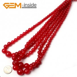 "G0846 RedGraduated Jade Jewelry Making Gemstone Necklac Loose Beads 15"" Free Shipping Natural Stone Beads for Jewelry Making Wholesale"