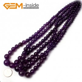 "G0847 Purple  Graduated Jade Jewelry Making Gemstone Necklac Loose Beads 15"" Free Shipping Natural Stone Beads for Jewelry Making Wholesale"