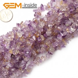 "G0857 Ametrine 5-8mm Chips Gemstone Loose Beads Strand 15""& 34"" Free Shipping Natural Stone Beads for Jewelry Making Wholesale"