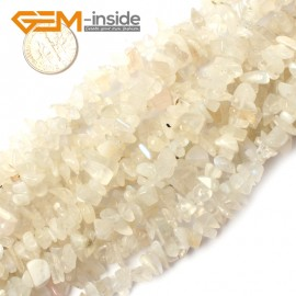 "G0864 Moonstone 5-8mm Multi-Color Chips Gemstone Loose Beads Strand 15""& 34"" Free Shipping Natural Stone Beads for Jewelry Making Wholesale"