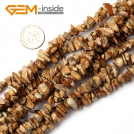 "G0876 Picture Jasper  5-8mm Multi-Color Chips Gemstone Loose Beads Strand 15""& 34"" Free Shipping Natural Stone Beads for Jewelry Making Wholesale"