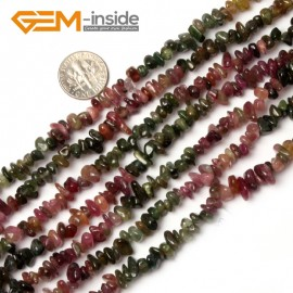 """G0894 Tourmaline 5-8mm Multi-Color Chips Gemstone Loose Beads Strand 15""""& 34"""" Free Shipping Natural Stone Beads for Jewelry Making Wholesale"""