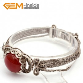 "G10025 Red Agte New Arrivals Fashion Jewelery Tassel Marcasite Bracelet 20mmx7"" Free Shipping Fashion Jewelry Jewellery Bracelets  for women"