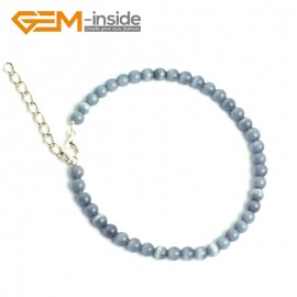 G10153 Gray With Clasp 4mm Handmade Multicolor Round Cat Eye's Beads Stretchy Bracelet Pick Fashion Jewelry Jewellery Bracelets  for women