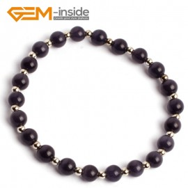 G10154 Black 6mm Handmade Multicolor Round Cat Eye's Beads Stretchy Bracelet Pick Fashion Jewelry Jewellery Bracelets  for women