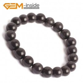 G10159 Black 10mm Handmade Multicolor Round Cat Eye's Beads Stretchy Bracelet Pick Fashion Jewelry Jewellery Bracelets  for women