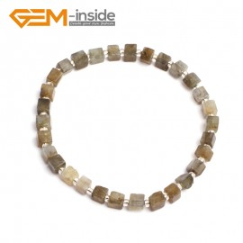 "G10203 Labradorite 4mm Cubic Gemstone Beads Handmade Bracelet 7 1/2"" XMAS New Fashion Jewelry Fashion Jewelry Jewellery Bracelets  for women"