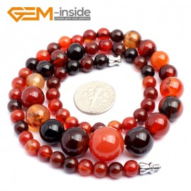 """G10290 6-14mm Dream Lace Agate 17.5"""" Handmade Graduated Necklace Beads 17-22 Inches Selectable XMAS Jewelry Gemstone Birthstone Necklaces Fashion Jewelry Jewellery"""