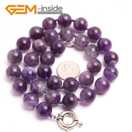 "G10336 12mm Dream Lace Amethyst 20"" Natural Smooth Round Gemstone Beads Handmade Finished Jewelry Necklace 17.5-20"" Gemstone Birthstone Necklaces Fashion Jewelry Jewellery"