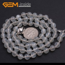 "G10343 6mm Moonstone 20"" Natural Smooth Round Gemstone Beads Handmade Finished Jewelry Necklace 17.5-20"" Gemstone Birthstone Necklaces Fashion Jewelry Jewellery"