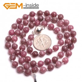 "G10363 6mm Chinese Tourmaline 20"" Natural Smooth Round Gemstone Beads Handmade Finished Jewelry Necklace 17.5-20"" Gemstone Birthstone Necklaces Fashion Jewelry Jewellery"