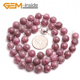 "G10364 8mm Chinese Tourmaline 20"" Natural Smooth Round Gemstone Beads Handmade Finished Jewelry Necklace 17.5-20"" Gemstone Birthstone Necklaces Fashion Jewelry Jewellery"