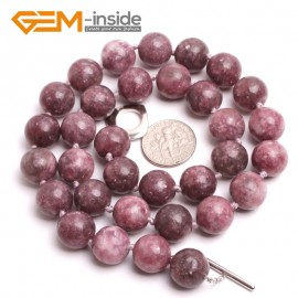 "G10366 12mm Chinese Tourmaline 20"" Natural Smooth Round Gemstone Beads Handmade Finished Jewelry Necklace 17.5-20"" Gemstone Birthstone Necklaces Fashion Jewelry Jewellery"