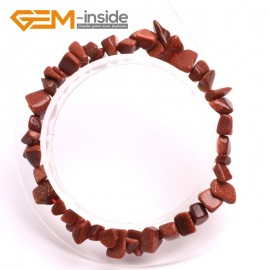 "G10438 Golden Sandstone Natural Freeform Chips Handmade Finished  Gemstone Bracelet 7 "" Free Shipping  Fashion Jewelry Jewellery Bracelets  for women"