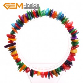 "G10444 Multi-color MOP Shell Natural Freeform Chips Handmade Finished  Gemstone Bracelet 7 "" Free Shipping  Fashion Jewelry Jewellery Bracelets  for women"