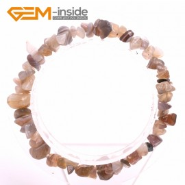 "G10452 Botswana Agate Natural Freeform Chips Handmade Finished  Gemstone Bracelet 7 "" Free Shipping  Fashion Jewelry Jewellery Bracelets  for women"