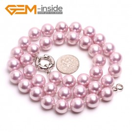 """G10472 Light Purple 10mm Handmade Finished Shell Pearl MOP Gemstone Necklace 18"""" 14 Colos Pick Pearl Necklaces Fashion Jewelry Jewellery"""