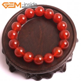 """G10520 10mm Round Red Agate Healing Elastic Stretch Energy Bracelet 7"""" Fashion Jewelry Bracelets for Women"""