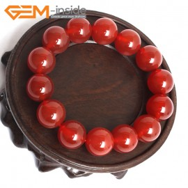 """G10522 14mm Round Red Agate Healing Elastic Stretch Energy Bracelet 7"""" Fashion Jewelry Bracelets for Women"""