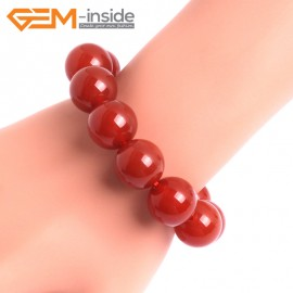 """G10523 16mm Round Red Agate Healing Elastic Stretch Energy Bracelet 7"""" Fashion Jewelry Bracelets for Women"""