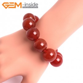 """G10524 18mm Round Red Agate Healing Elastic Stretch Energy Bracelet 7"""" Fashion Jewelry Bracelets for Women"""