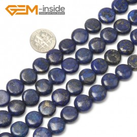 """G1059 12mm Coin Gemstone Blue Lapis Lazuli Beads Jewelry Making Loose Beads Strand 15"""" Natural Stone Beads for Jewelry Making Wholesale"""