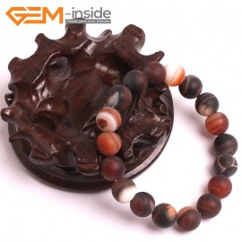 """G10610 10mm Round Frosted Matte Dream Agate Healing Elastic Stretch Energy Bracelet 7"""" Fashion Jewelry Bracelets for Women"""