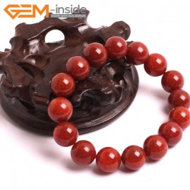 "G10635 12mm Round Red Dragon Veins Agate Healing Elastic Stretch Energy Bracelet 7"" Fashion Jewelry Bracelets for Women"