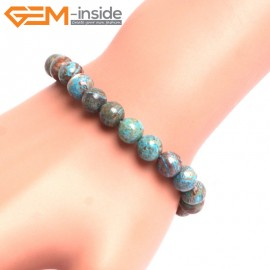 "G10778 8mm Round Blue Crzay Lace Agate Stone Healing Brcelet 7""  Fashion Jewelry Jewellery Bracelets  for Women"