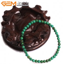 """G10789 4mm Round Green Turquoise Natural Stone Healing Brcelet 7""""  Fashion Jewelry Jewellery Bracelets  for Women"""