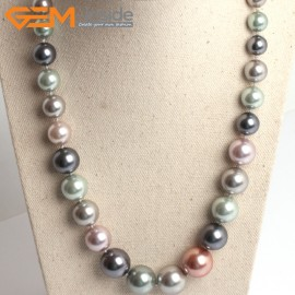 """G10856 8-16mm Muti-Color Pearl Shell Stone Princess Necklaces Fashion Jewelry 18.5"""" Fashion Jewelry Jewellery Necklace for Women"""