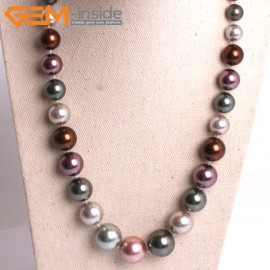 "G10858 8-16mm Muti-Color Pearl Shell Stone Princess Necklaces Fashion Jewelry 18.5"" Fashion Jewelry Jewellery Necklace for Women"
