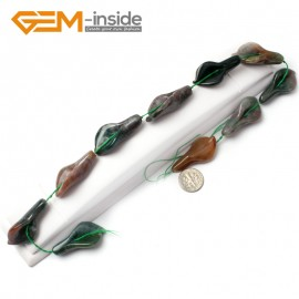 G1122 18x40mm (Indian Agate) Calla Lily Flower Shape Gemstone Jewelry Making Beads Free Shipping Natural Stone Beads for Jewelry Making Wholesale