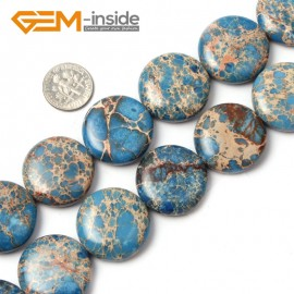 """G1318 25mm Coin Gemstone Crzay Lace Agate Beads Strand 15""""Free Shipping Natural Stone Beads for Jewelry Making Wholesale"""