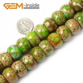 """G1323 12x16mm  (Green)Roundel Rondelle Crzay Lace Agate Beads Strand 15""""Jewelry Making Gemstone Beads Natural Stone Beads for Jewelry Making Wholesale"""