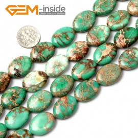 """G1331 15x20mm (Green) Oval Gemstone Crzay Lace Agate Beads Jewelry Making Loose Beads15"""" Free Shipping Natural Stone Beads for Jewelry Making Wholesale"""