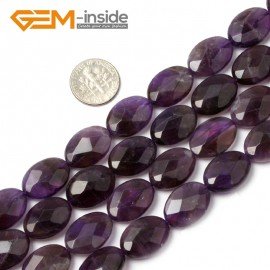 "G1436 13x18mm Oval Faceted Purple Amethyst Beads Jewelry Making Loose Beads 15"" Free Shipping Natural Stone Beads for Jewelry Making Wholesale"