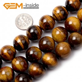"""G1491 16mm Round Gemstone Yellow Tiger Eye DIY Crafts Jewelry Making Loose Beads15"""" Natural Stone Beads for Jewelry Making Wholesale"""