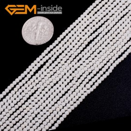 "G15061 2mm Natural Round White Coral Gemstone Loose Beads Strand 15"" Jewelry Making Beads Natural Stone Beads for Jewelry Making Wholesale"