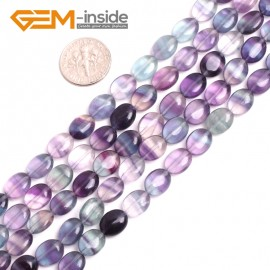 "G15071 8x10mm Pretty Drop Gemstoe Fluorite Loose Beads Strand 15"" Jewelery Making Beads Gbeads Natural Stone Beads for Jewelry Making Wholesale"
