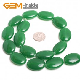 "G15077 18x25mm Oval Green Jade Beads Jewelry Making Gemstone Loose Beads Strand 15"" Color Pick Natural Stone Beads for Jewelry Making Wholesale"