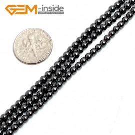 "G15128 3mm Round Black Hematite Gemstone DIY Jewelry Making Loose Beads Strand 15""2-16mm Natural Stone Beads for Jewelry Making Wholesale"