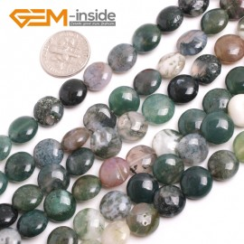 "G15163 10mm Natural Coin Indian Agate Loose Beads Strand 15"" Jewelry Making Gemstone Beads Natural Stone Beads for Jewelry Making Wholesale"