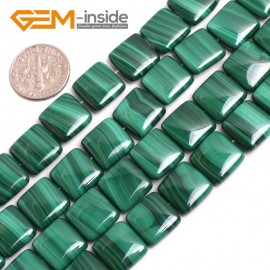 "G15171 12mm Square Gemstone Grade A Malachite DIY Jewelry Making Loose Beads 15"" Selectable Shape Natural Stone Beads for Jewelry Making Wholesale`"