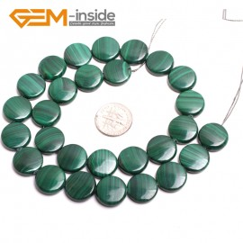 """G15172 14mm Coin Natual Malachite Beads Jewelry Making Gemstone Loose Beads 15 """" Free Ship Natural Stone Beads for Jewelry Making Wholesale"""