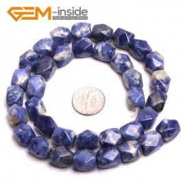 """G15190 sodalite 8-9x11-12mm Faced Cuboid Mixed Stone Beads 15"""" DIY Jewelry Making 19 Materials Natural Stone Beads for Jewelry Making Wholesale"""